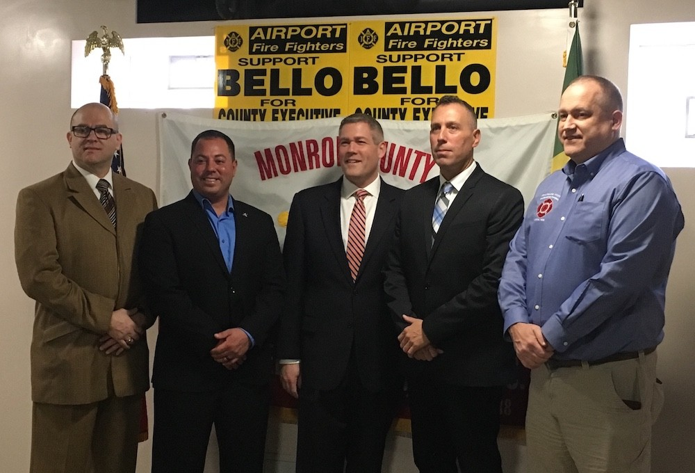 Airport Firefighters Endorse Adam Bello for Monroe County Executive